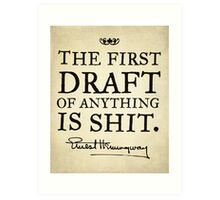 Hemingway First Draft Art Print