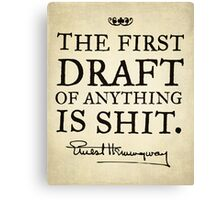 Hemingway First Draft Canvas Print