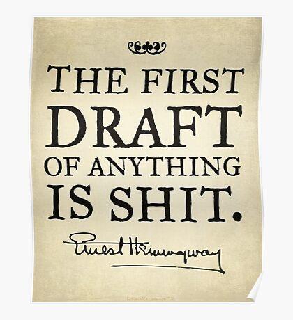 Hemingway First Draft Poster