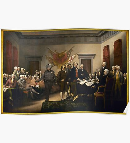 Declaration Of Independence Gas Poster