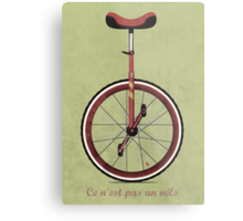 Unicycle Metal Print