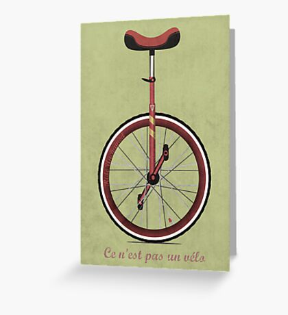 Unicycle Greeting Card