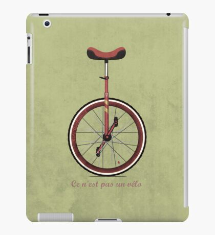 Unicycle iPad Case/Skin