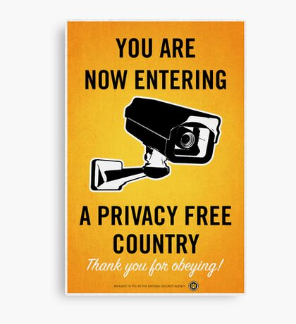 Privacy Free Country Canvas Print