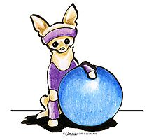 Chihuahua Fitness Nut Photographic Print
