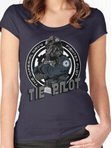 TIE Pilot Crest Women's Fitted Scoop T-Shirt