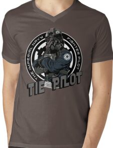 TIE Pilot Crest Mens V-Neck T-Shirt
