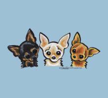 Smooth Chihuahua Trio Kids Clothes