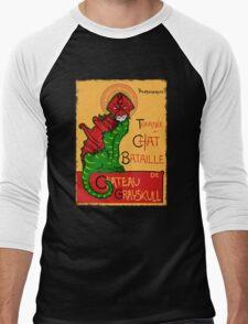 Chat Bataille Men's Baseball ¾ T-Shirt