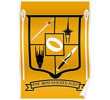 Tolkien Fan Crest Poster