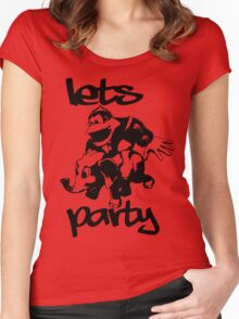 LETS PARTY Women's Fitted Scoop T-Shirt