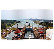 Gutan Locks, Panama Canal Poster