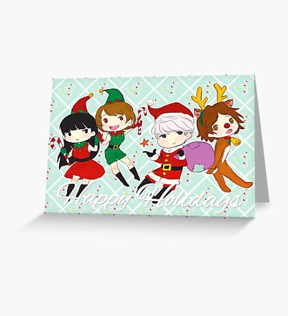 [P4] Happy Holidays - 3rd years - mint Greeting Card