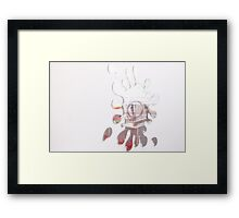 reflected nursery Framed Print