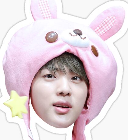 Jin Bunny Hat | BTS Sticker