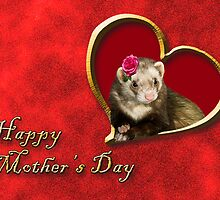 Mother's Day Ferret by jkartlife