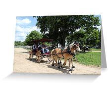 Horse and Carriage 2 Greeting Card