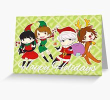 [P4] Happy Holidays - 3rd years - green Greeting Card
