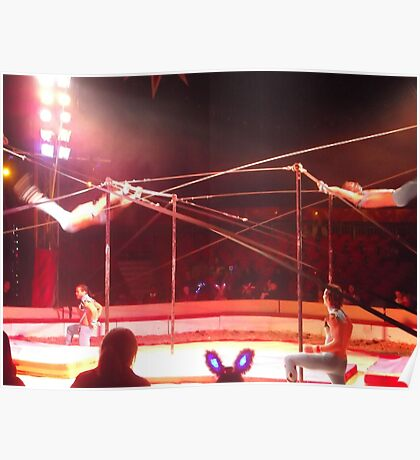 Zippo's Circus/Cuban Troupe Acrobats II -(150413)- Digital Photo/FujiFilm FinePix AX350 Poster