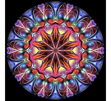 Blobs of Color Kaleidoscope 01 Photographic Print