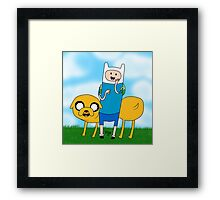 Finn and Jake Adventure time! Framed Print