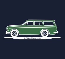 Volvo Amazon Station Wagon Kombi Green Eerkes for Black Shirts Kids Clothes