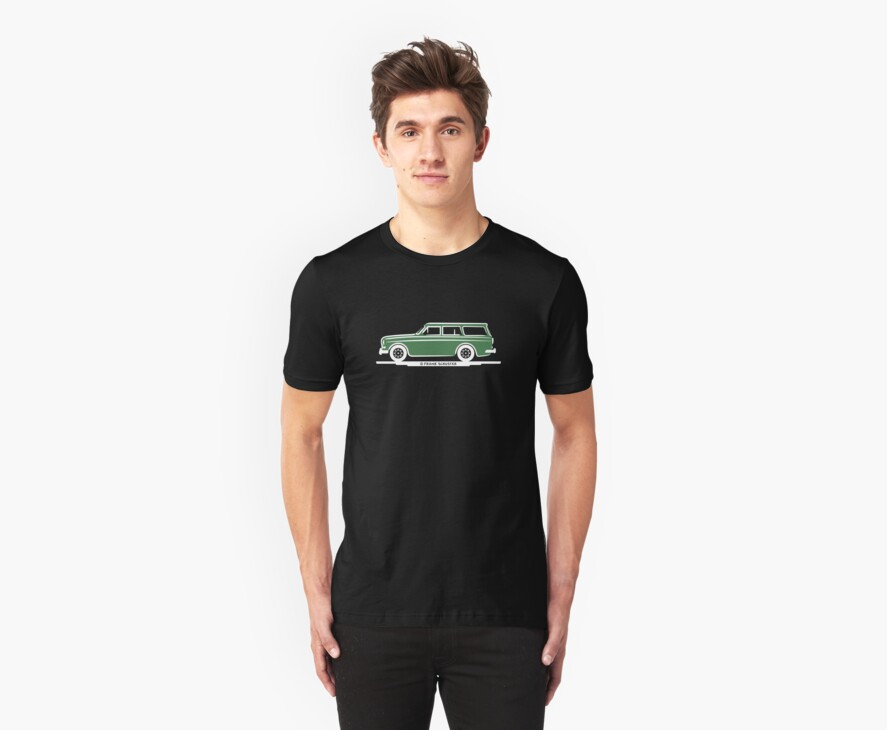Volvo Amazon Station Wagon Kombi Green Eerkes for Black Shirts by Frank Schuster