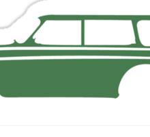 Volvo Amazon Station Wagon Kombi Green Eerkes for Black Shirts Sticker