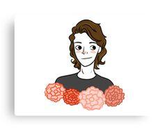 Harry Styles Flower Art Canvas Print