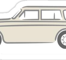 Volvo Amazon Station Wagon Kombi White for Black Shirts Sticker