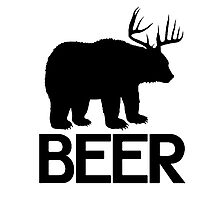 BEER ( Deer and Bear Fusion) Photographic Print