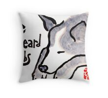 Cyril and the Sound of Verbs Throw Pillow