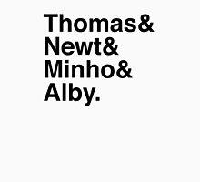 Thomas & Newt & Minho & Alby. Unisex T-Shirt