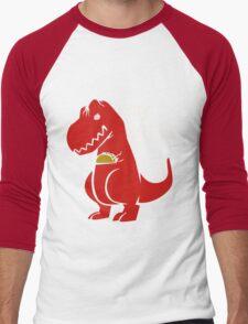 T-Rex Precious Taco funny nerd geek geeky Men's Baseball ¾ T-Shirt