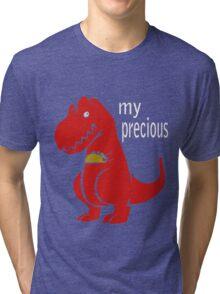 T-Rex Precious Taco funny nerd geek geeky Tri-blend T-Shirt