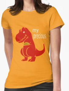 T-Rex Precious Taco funny nerd geek geeky Womens Fitted T-Shirt