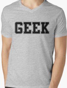 GEEK (for light color t-shirts) Mens V-Neck T-Shirt