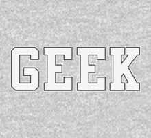 GEEK (for dark color t-shirts) Kids Clothes