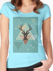 Pixel Deer Women's Fitted Scoop T-Shirt