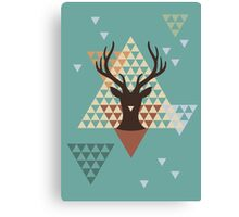 Pixel Deer Canvas Print