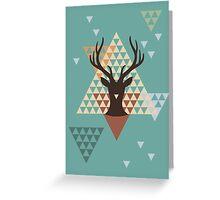 Pixel Deer Greeting Card