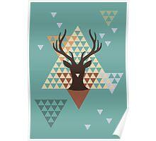 Pixel Deer Poster