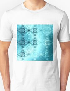Light blue traditional pattern  Unisex T-Shirt