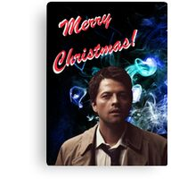 Christmas Castiel! Canvas Print