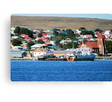 Stanley, capital of the Falkland Islands Canvas Print