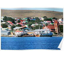 Stanley, capital of the Falkland Islands Poster