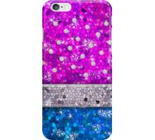 Purple Glitter Bling Turquoise Blue Sapphires Amethyst iPhone Case/Skin