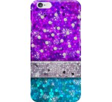 Purple Glitter Bling Turquoise Blue Aquamarine Amethyst iPhone Case/Skin