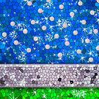 Green Glitter Bling Turquoise Blue Save The Earth by rozine