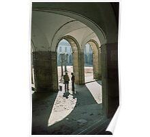 Inside entrance cloister Abbaye de Cluny 198403070017  Poster